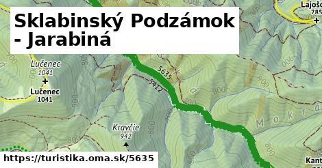 ilustračný obrázok k Sklabinský Podzámok - Jarabiná