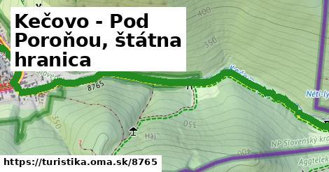 ilustračný obrázok k Kečovo - Pod Poroňou, štátna hranica