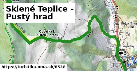 ilustračný obrázok k Sklené Teplice - Pustý hrad