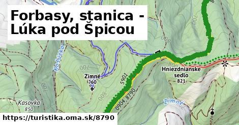 ilustračný obrázok k Forbasy, stanica - Lúka pod Špicou