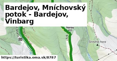ilustračný obrázok k Bardejov, Mníchovský potok - Bardejov, Vinbarg