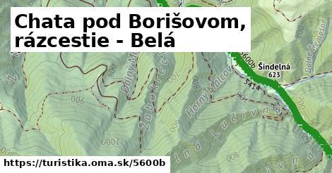 ilustračný obrázok k Chata pod Borišovom, rázcestie - Belá
