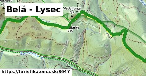 ilustračný obrázok k Belá - Lysec