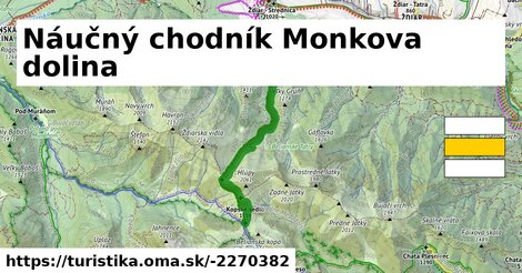 ilustračný obrázok k Náučný chodník Monkova dolina