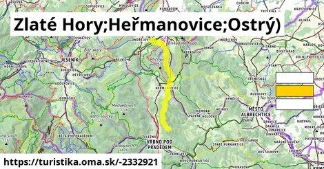 Zlaté Hory;Heřmanovice;Ostrý)