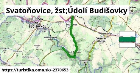 Svatoňovice, žst;Údolí Budišovky