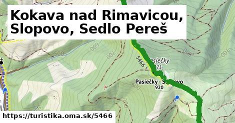 ilustračný obrázok k Kokava nad Rimavicou, Slopovo, Sedlo Pereš
