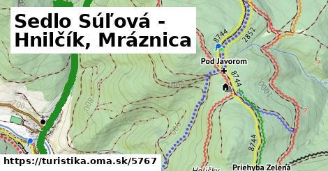 ilustračný obrázok k Sedlo Súľová - Hnilčík, Mráznica