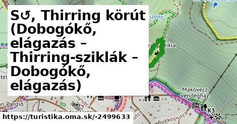 S↺ Thirring körút (Dobogókő, elágazás - Thirring-sziklák - Dobogókő, elágazás)