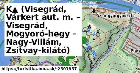K▲ (Visegrád, Várkert aut. m. – Visegrád, Mogyoró-hegy – Nagy-Villám, Zsitvay-kilátó)