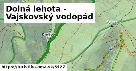 ilustračný obrázok k Dolná lehota - Vajskovský vodopád