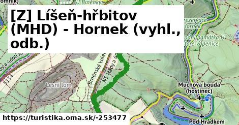 [Z] Líšeň-hřbitov (MHD) - Hornek (vyhl., odb.)