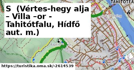 S+ (Vértes-hegy alja – Villa –or - Tahitótfalu, Hídfő aut. m.)
