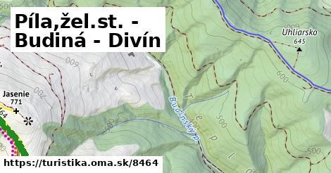 ilustračný obrázok k Píla,žel.st. - Budiná - Divín