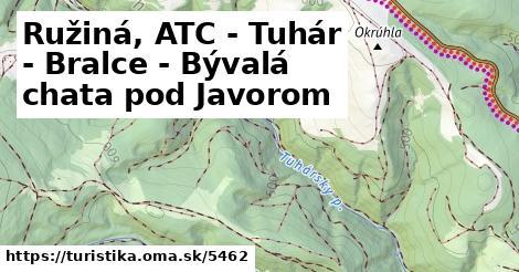 ilustračný obrázok k Ružiná, ATC - Tuhár - Bralce - Bývalá chata pod Javorom