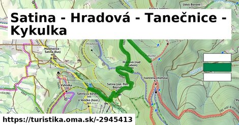 Satina - Hradová - Tanečnice - Kykulka