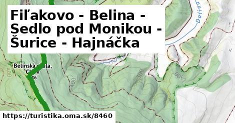 ilustračný obrázok k Fiľakovo - Belina - Sedlo pod Monikou - Šurice - Hajnáčka