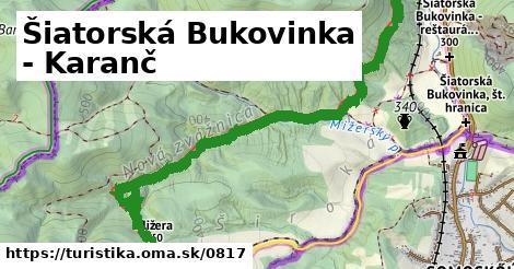ilustračný obrázok k Šiatorská Bukovinka - Karanč