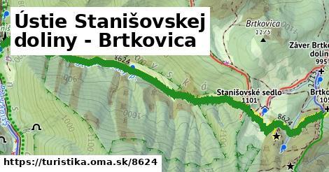 ilustračný obrázok k Ústie Stanišovskej doliny - Brtkovica