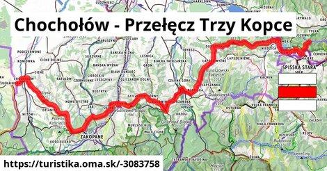 Chochołów - Przełęcz Trzy Kopce