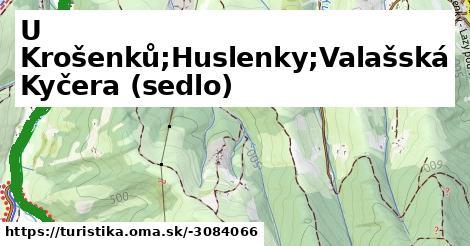 U Krošenků;Huslenky;Valašská Kyčera (sedlo)