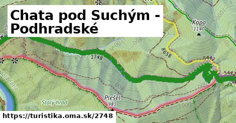 ilustračný obrázok k Chata pod Suchým - Podhradské