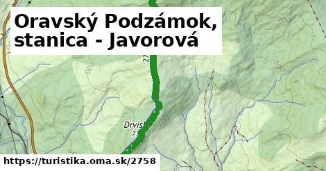 ilustračný obrázok k Oravský Podzámok, stanica - Javorová