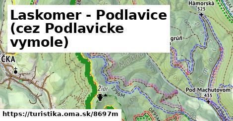 ilustračný obrázok k Laskomer - Podlavice (cez Podlavicke vymole)
