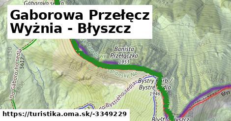 ilustračný obrázok k Gaborowa Przełęcz Wyżnia - Błyszcz