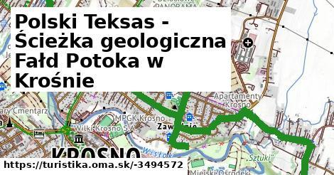 Polski Teksas - Ścieżka geologiczna Fałd Potoka w Krośnie