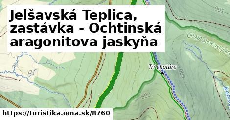 ilustračný obrázok k Jelšavská Teplica, zastávka - Ochtinská aragonitova jaskyňa