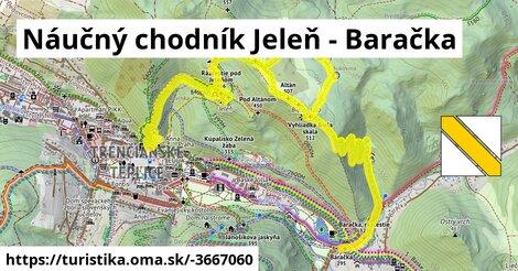 ilustračný obrázok k Náučný chodník Jeleň - Baračka