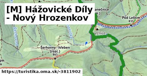[M] Hážovické Díly - Nový Hrozenkov