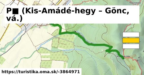 P■ (Kis-Amádé-hegy – Gönc, vá.)