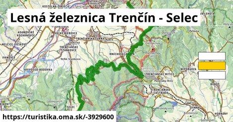 ilustračný obrázok k Lesná železnica Trenčín - Selec