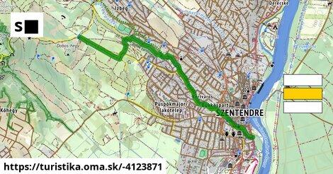 S■ (Dobos-hegy – Bükkös-part – Szentendre, Duna korzó)