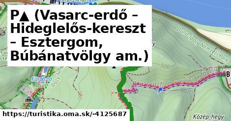 P▲ (Vasarc-erdő – Hideglelős-kereszt – Esztergom, Búbánatvölgy am.)