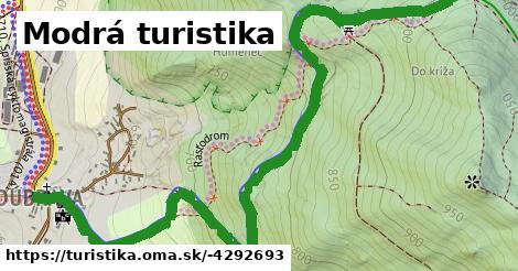 ilustračný obrázok k Modrá turistika
