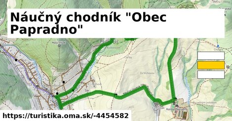 "ilustračný obrázok k Náučný chodník ""Obec Papradno"""