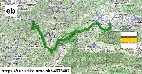 Medzinárodná horská turistická pešia trasa Eisenach–Budapešt (Slovensko západ)