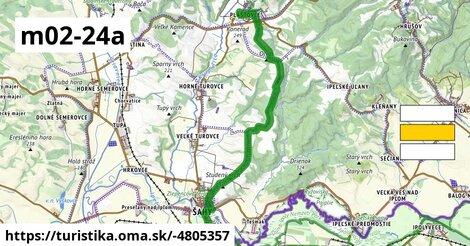 KM, Mária-út, M02-24A (Palást – Kemence)