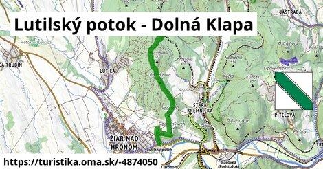 Lutilský potok - Dolná Klapa