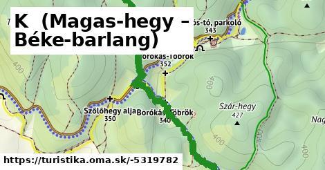 K+ (Magas-hegy – Béke-barlang)