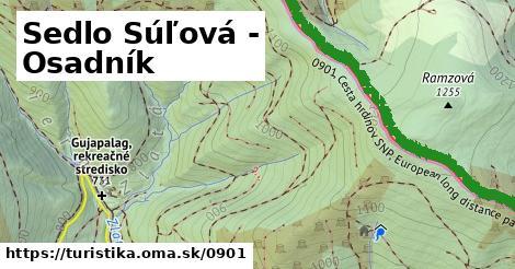 ilustračný obrázok k Sedlo Súľová - Úhornianske sedlo