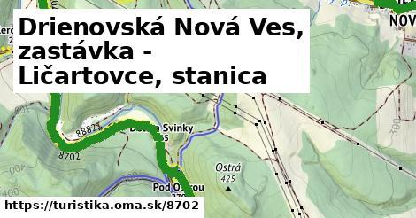 ilustračný obrázok k Drienovská Nová Ves, zastávka - Ličartovce, stanica