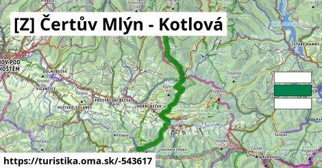 Čertův Mlýn;Martiňák;Horní Bečva;Kotlová