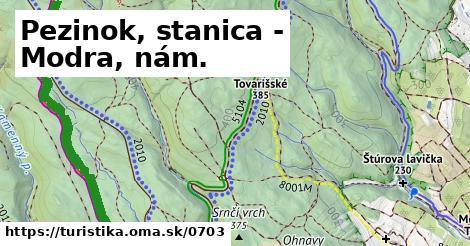 ilustračný obrázok k Pezinok, stanica - Modra, nám.