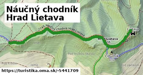 ilustračný obrázok k Náučný chodník Hrad Lietava