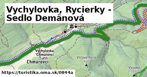 ilustračný obrázok k Vychylovka, Rycierky - Sedlo Demänová
