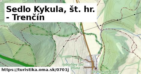 ilustračný obrázok k Sedlo Kykula, št. hr. - Trenčín